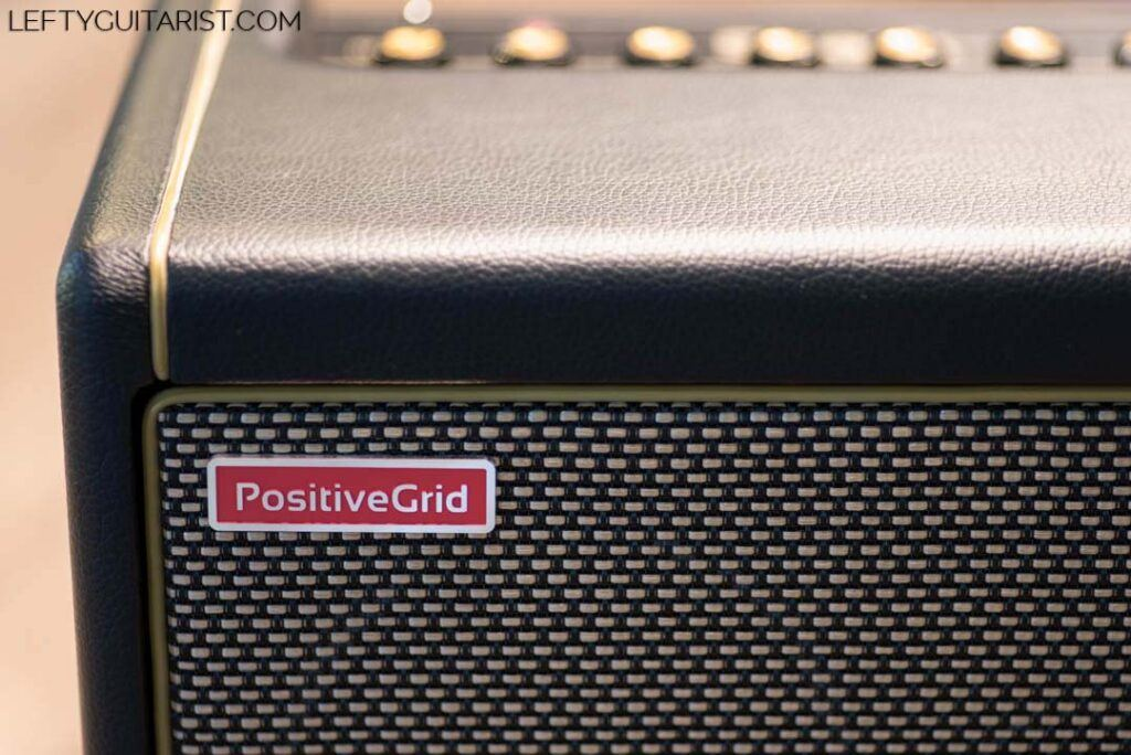 Positive Grid Logo Badge on Spark 40 Amplifier