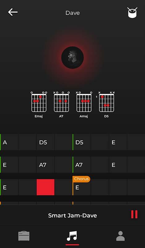 Positive Grid Spark App Smart Jam Chords