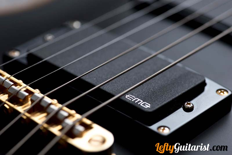 EMG 81 bridge pickup on a left handed ESP LTD EC-1000