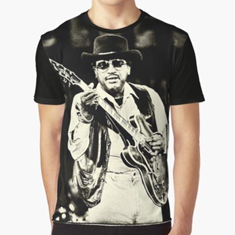 Left handed guitar shirts - Otis Rush - All Your Lovin'