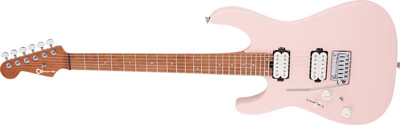 Left Handed Charvel Guitars - PRO-MOD DK24 HH 2PT CM LH (Satin Shell Pink)