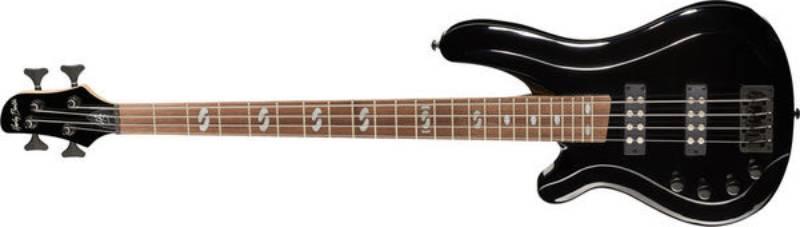 Left handed Harley Benton bass guitars - A black B-450LH