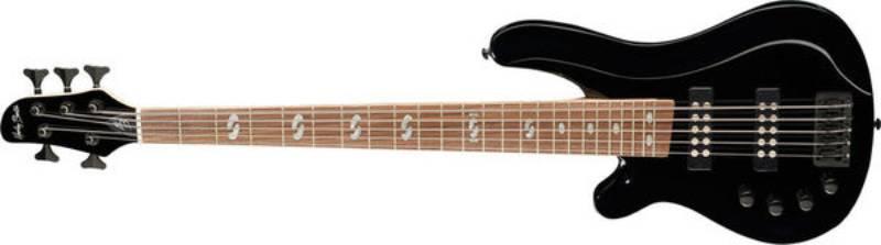 Left handed Harley Benton bass guitars - A black B-550LH