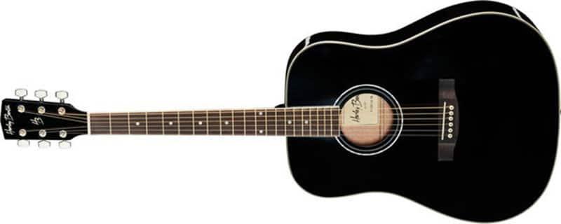 Left Handed Harley Benton Acoustic Guitars - A black D-120LH