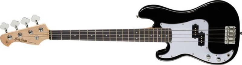 Left handed Harley Benton bass guitars - A black PB-Shorty LH
