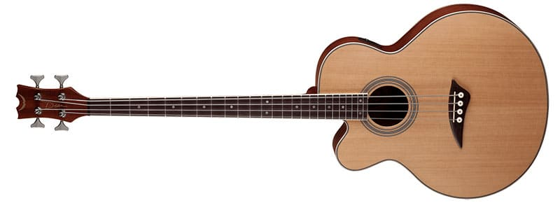 Left Handed Dean Guitars - Acoustic/Electric Bass CAW Lefty SN