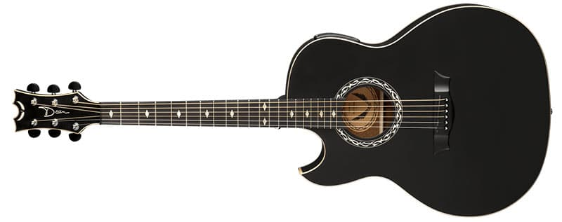 Left Handed Dean Guitars - Exhibition A/E Black Satin Lefty