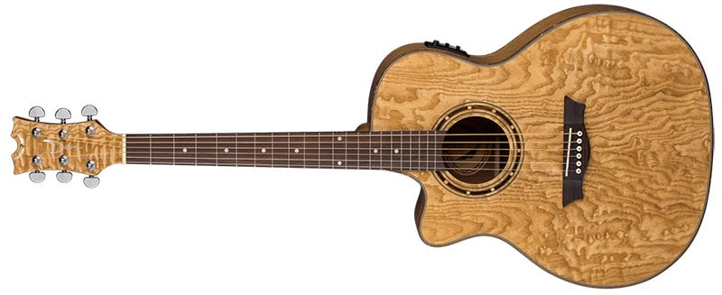 Left Handed Dean Guitars - Exotica Quilt Ash A/E GN Lefty