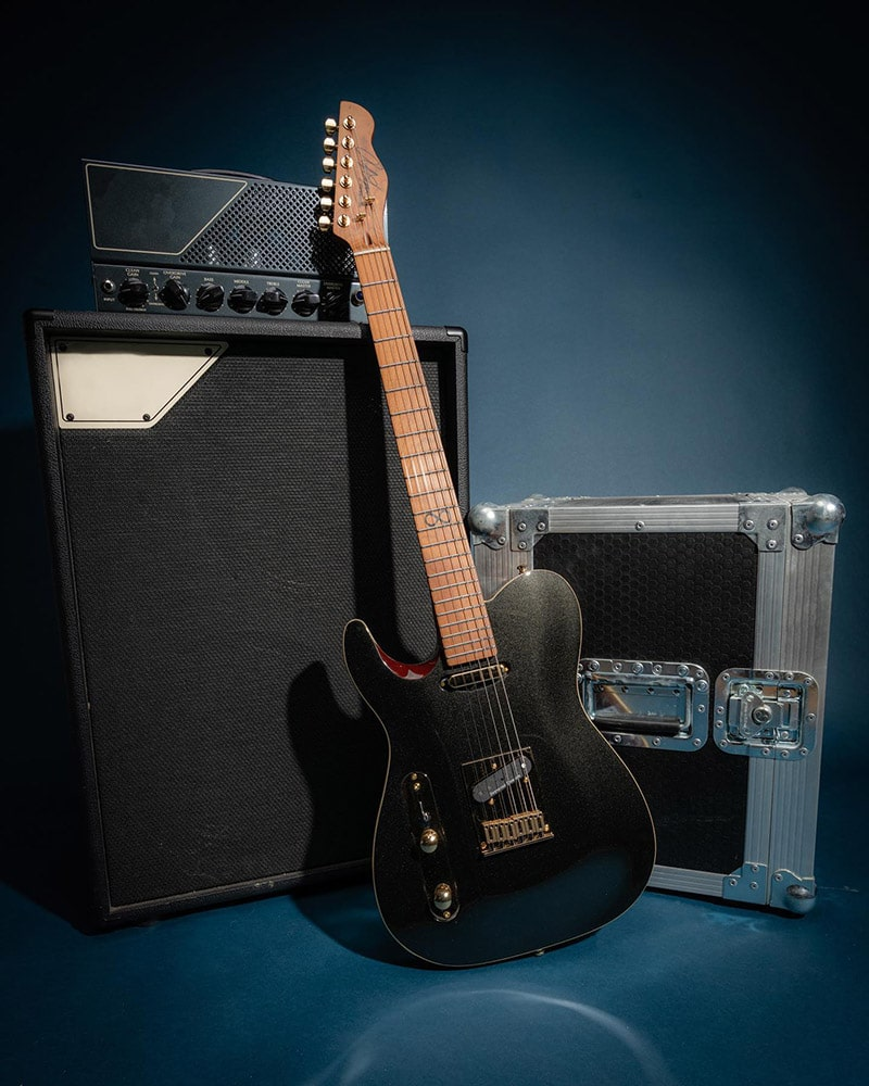 Left handed Chapman Guitars - a Chapman  ML-3 LH Pro Traditional with a Classic Black finish