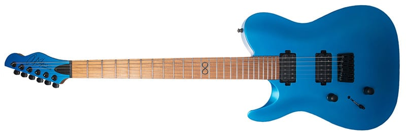 Left Handed Chapman Guitars - ML3 LH Pro Modern with a hot blue satin finish