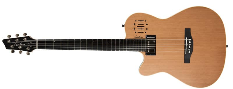 Left Handed Godin Guitars - A left-handed A6 ULTRA with a natural semi-gloss finish