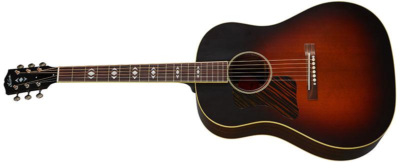 Left Handed Gibson Acoustic Guitars - 1936 Advanced Jumbo (Vintage Sunburst)