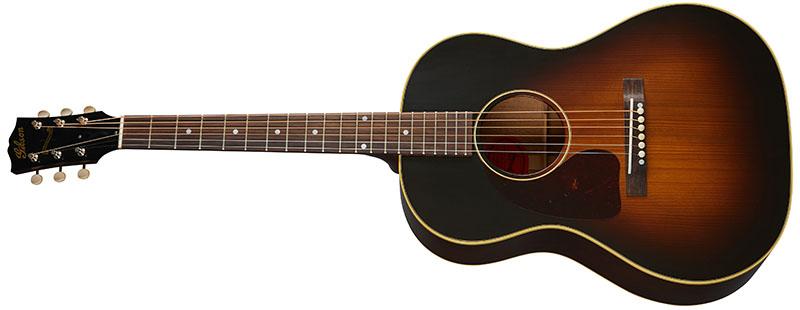 Left Handed Gibson Acoustic Guitars - 1942 Banner LG-2 (Vintage Sunburst)