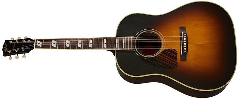 Left Handed Gibson Acoustic Guitars - 1942 Banner Southern Jumbo (Vintage Sunburst)