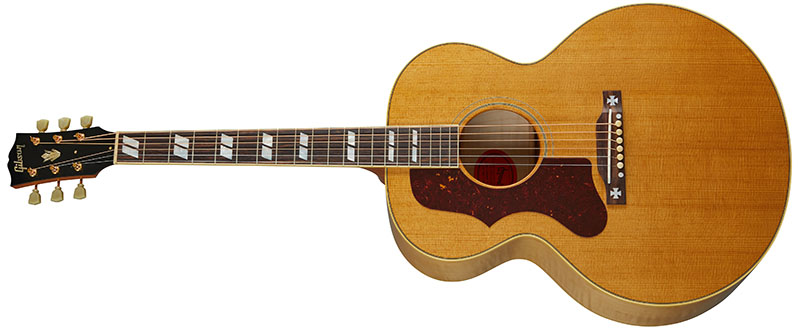 Left Handed Gibson Acoustic Guitars - 1952 J-185 (Antique Natural)