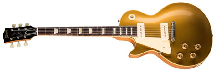 Left Handed Gibson Guitars - 1954 Les Paul Goldtop Reissue (Double Gold)