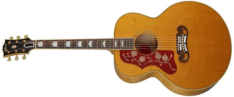 Left Handed Gibson Acoustic Guitars - 1957 SJ-200 (Antique Natural)