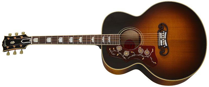 Left Handed Gibson Acoustic Guitars - 1957 SJ-200 (Vintage Sunburst)