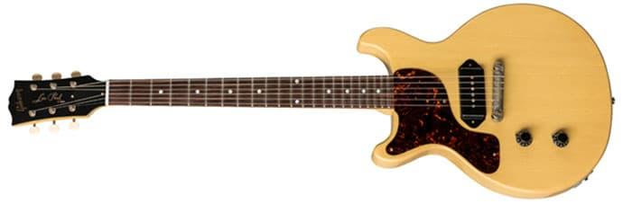Left Handed Gibson Guitars - 1958 Les Paul Junior Double Cut Reissue (TV Yellow)