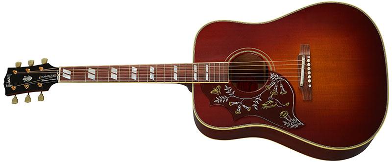 Left Handed Gibson Acoustic Guitars - 1960 Hummingbird Adjustable Saddle (Heritage Cherry Sunburst)