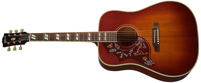 Left Handed Gibson Acoustic Guitars - 1960 Hummingbird Fixed Bridge (Heritage Cherry Sunburst)