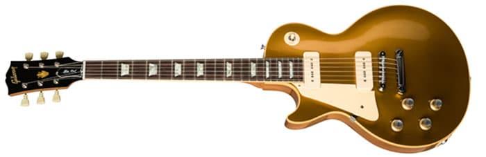 Left Handed Gibson Guitars - 1968 Les Paul Standard Goldtop Reissue (60s Gold)