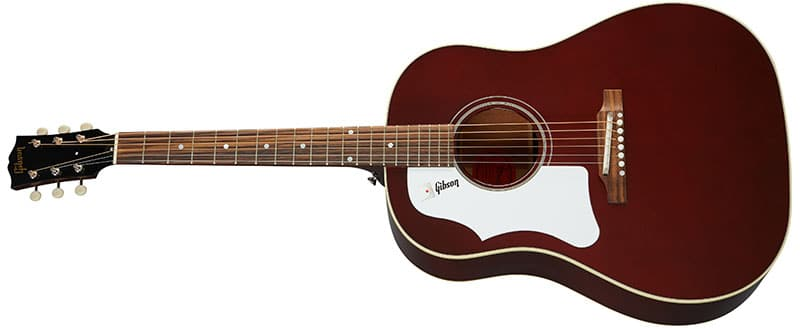 Left Handed Gibson Acoustic Guitars - 60s J-45 Original (Wine Red)
