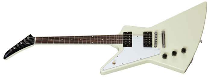 Left Handed Gibson Guitars - 70s Explorer (Classic White)