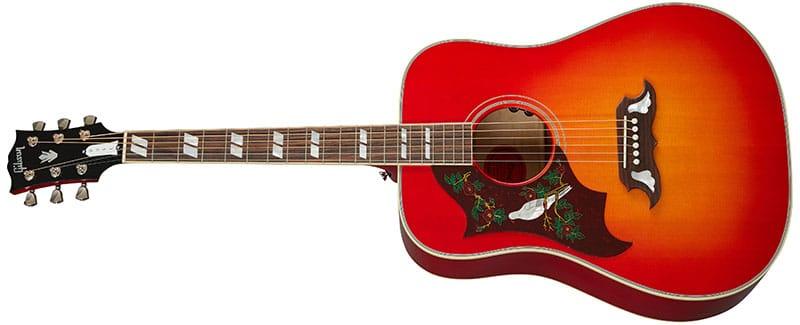 Left Handed Gibson Acoustic Guitars - Dove Original (Vintage Cherry Sunburst)
