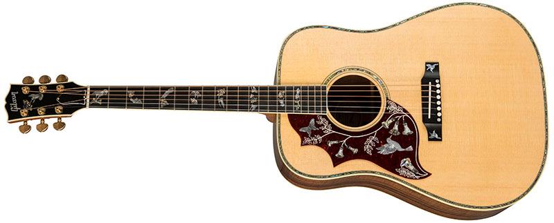 Left Handed Gibson Acoustic Guitars - Hummingbird Custom (Antique Natural)
