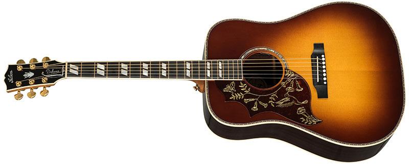Left Handed Gibson Acoustic Guitars - Hummingbird Deluxe (Rosewood Burst)