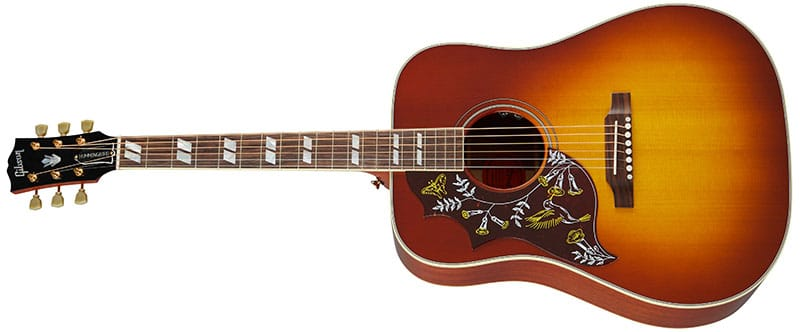 Left Handed Gibson Acoustic Guitars - Hummingbird Original (Heritage Cherry Sunburst)