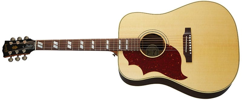Left Handed Gibson Acoustic Guitars - Hummingbird Studio Rosewood (Antique Natural)