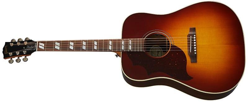 Left Handed Gibson Acoustic Guitars - Hummingbird Studio Rosewood (Rosewood Burst)