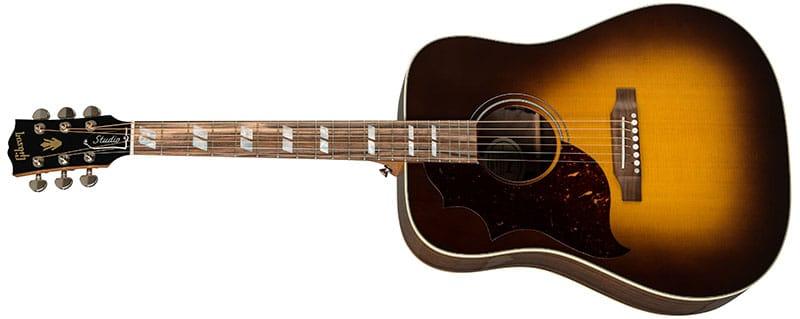 Left Handed Gibson Acoustic Guitars - Hummingbird Studio Walnut (Walnut Burst)