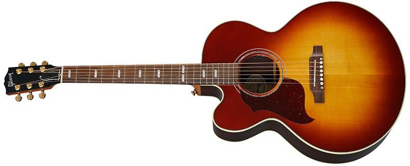 Left Handed Gibson Acoustic Guitars - J-185 EC Modern Rosewood (Rosewood Burst)