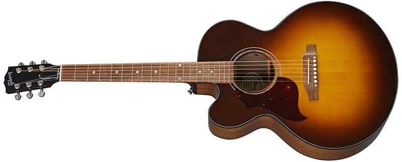 Left Handed Gibson Acoustic Guitars - J-185 EC Modern Walnut (Walnut Burst)