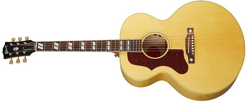 Left Handed Gibson Acoustic Guitars - J-185 Original (Antique Natural)