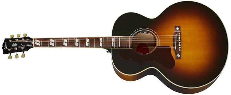 Left Handed Gibson Acoustic Guitars - J-185 Original (Vintage Sunburst)