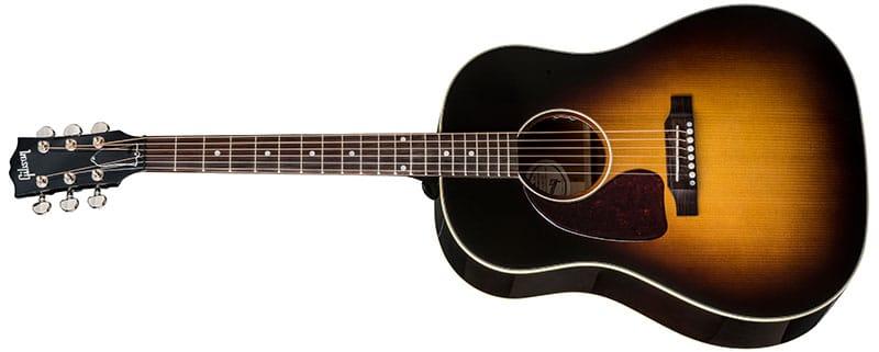 Left Handed Gibson Acoustic Guitars - J-45 Standard (Vintage Sunburst)