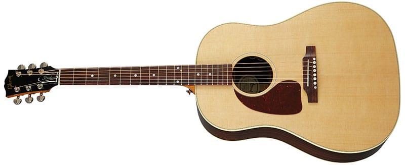 Left Handed Gibson Acoustic Guitars - J-45 Studio Rosewood (Antique Natural)