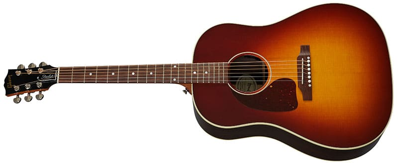 Left Handed Gibson Acoustic Guitars - J-45 Studio Rosewood (Rosewood Burst)