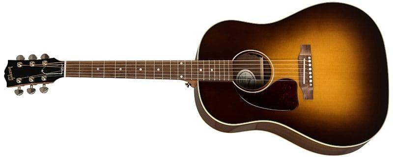 Left Handed Gibson Acoustic Guitars - J-45 Studio Walnut (Walnut Burst)