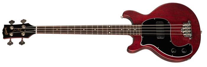 Left Handed Gibson Guitars - Les Paul Junior Tribute DC Bass (Worn Cherry)