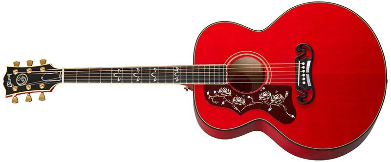 Left Handed Gibson Acoustic Guitars - Orianthi SJ-200 (Cherry)