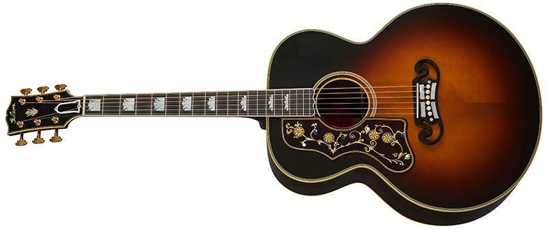 Left Handed Gibson Acoustic Guitars - Pre-War SJ-200 Rosewood (Vintage Sunburst)