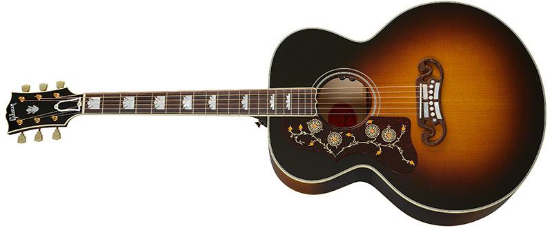 Left Handed Gibson Acoustic Guitars - SJ-200 Original (Vintage Sunburst)
