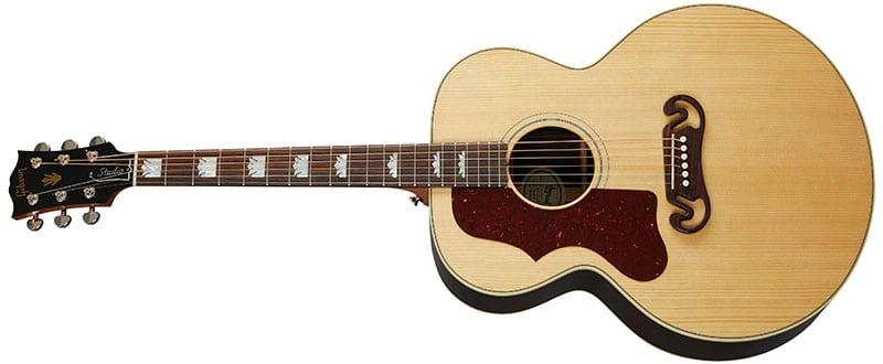 Left Handed Gibson Acoustic Guitars - SJ-200 Studio Rosewood (Antique Natural)