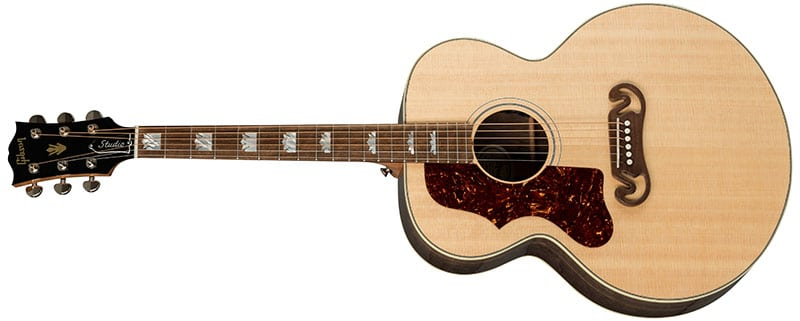 Left Handed Gibson Acoustic Guitars - SJ-200 Studio Walnut (Antique Natural)