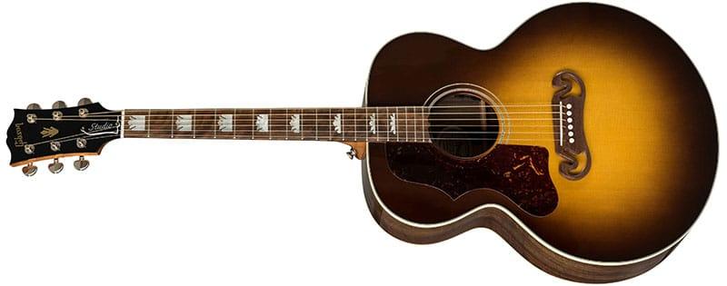 Left Handed Gibson Acoustic Guitars - SJ-200 Studio Walnut (Walnut Burst)